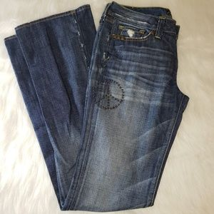 LUCKY LEGEND Brand Embellished Flare Jeans 4 or 27